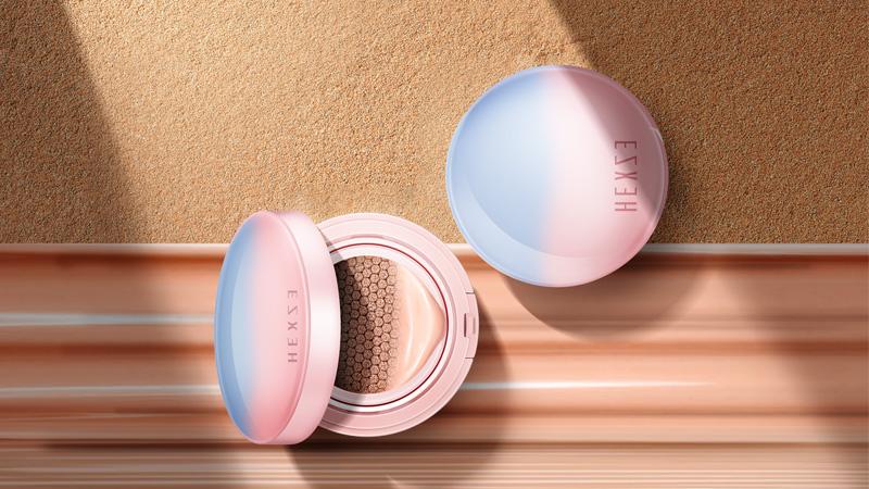 化妆品海报设计:巧用曲线营造光影